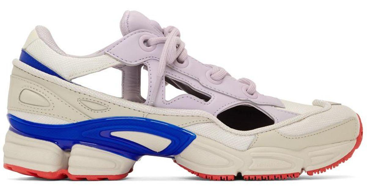 Baskets blanches et mauves RS Replicant Ozweego edition adidas Originals Raf Simons pour homme en coloris White