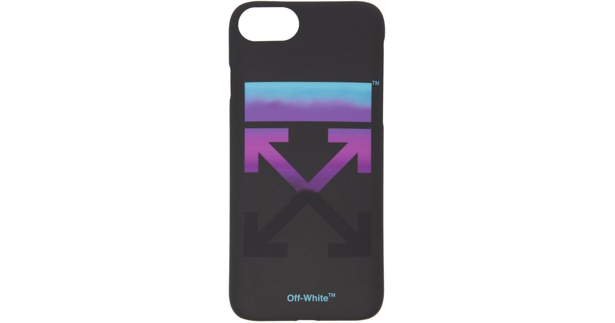 new arrival 78be5 21a13 Off-White c/o Virgil Abloh Black Gradient Iphone 8 Case for men