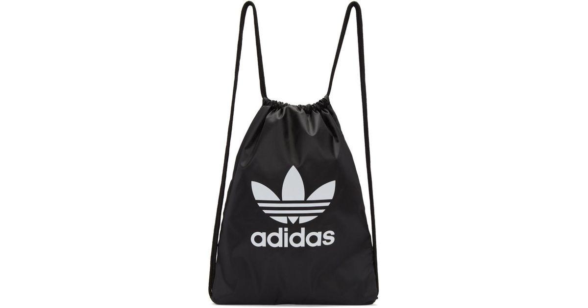 d49a1531df27 Adidas Originals Black Trefoil Gym Backpack