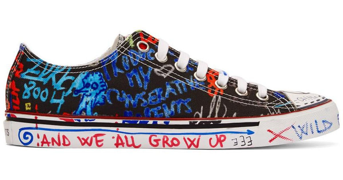 Vetements Sneakers Men Top Black Graffiti For Low xBedCro