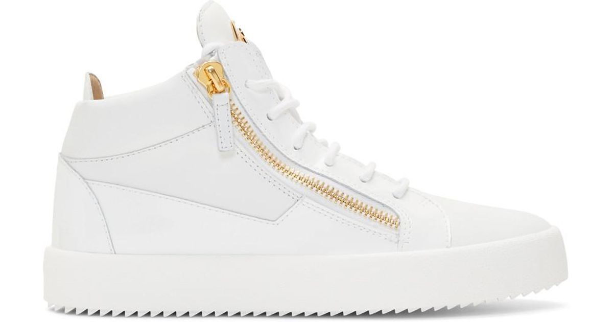 good texture buy cheap special for shoe Giuseppe Zanotti Leather White May London High-top Sneakers for ...