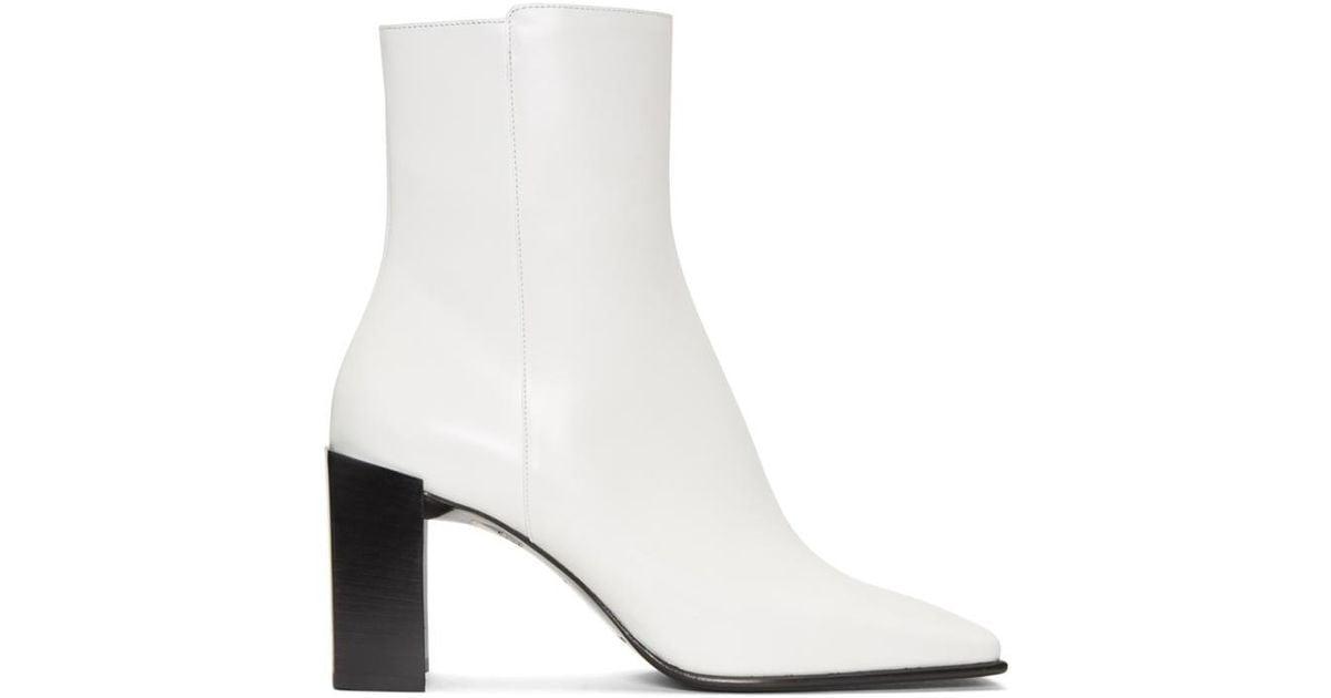 Balenciaga Leather White Square Toe