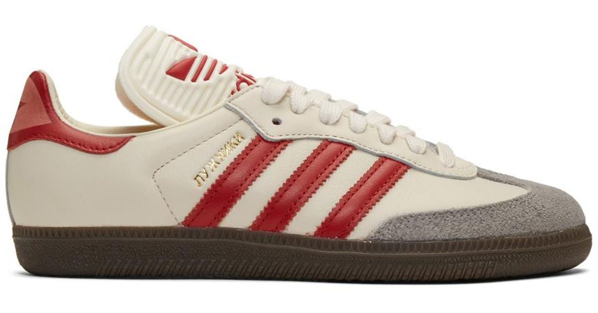 Adidas Originals Multicolor Off-white And Red Samba Og Sneakers