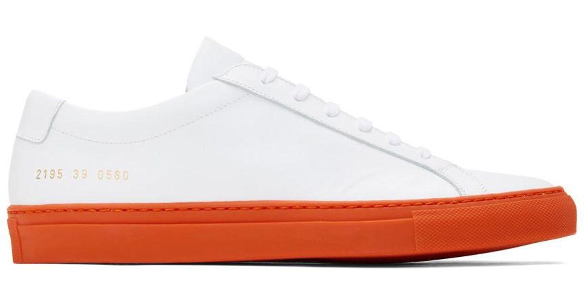 Orange Achilles Low Sneakers for Men - Lyst