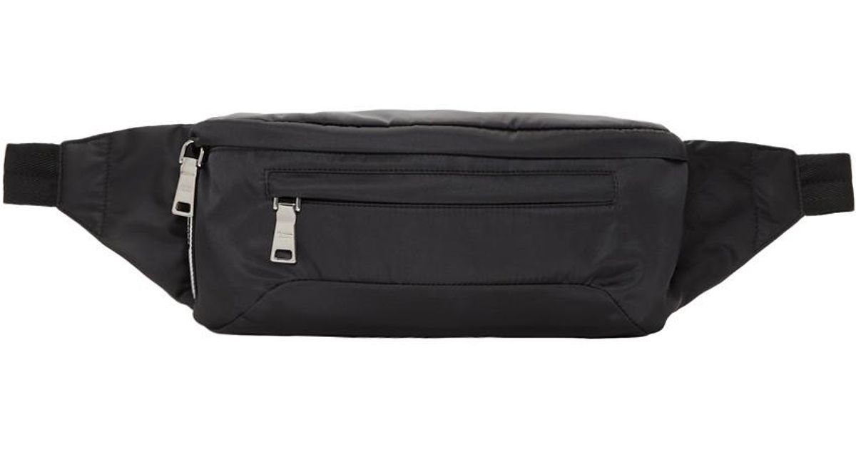 132d80076237 Prada Ssense Exclusive Black Arca Edition Fanny Pack in Black - Lyst