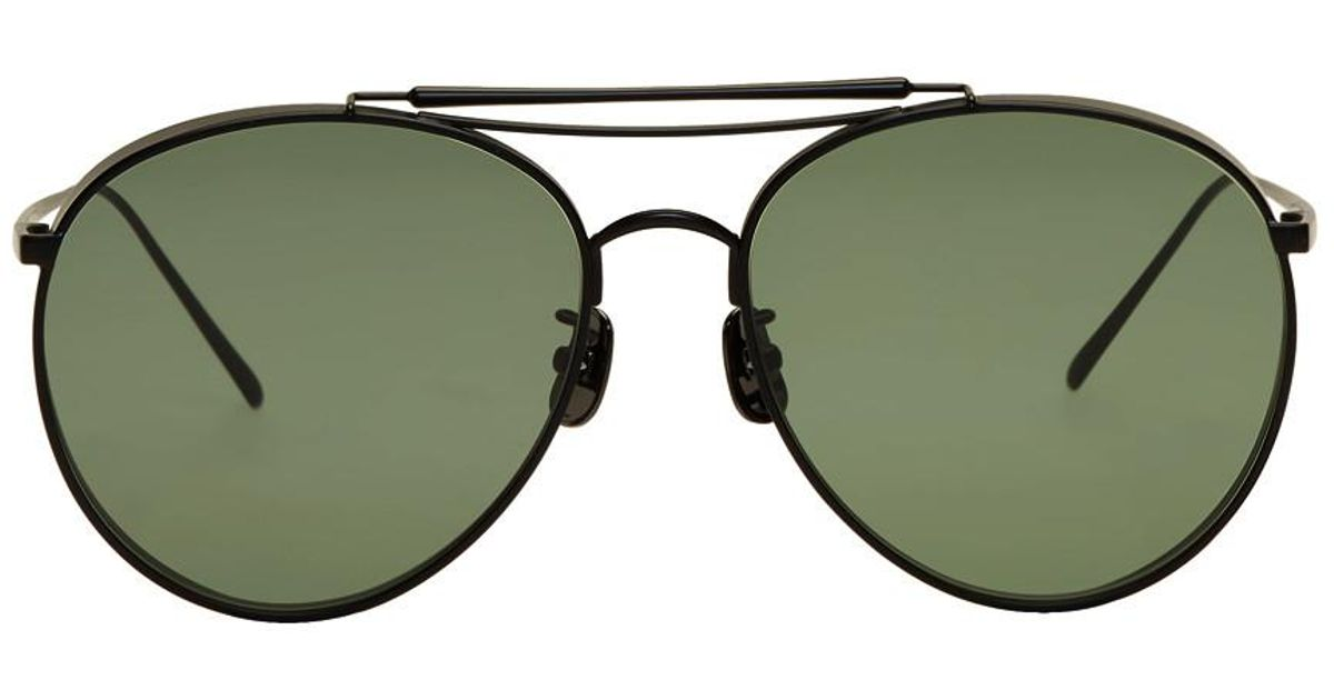 36b365f4fa8 Gentle Monster Black And Green Big Bully Sunglasses in Black - Lyst