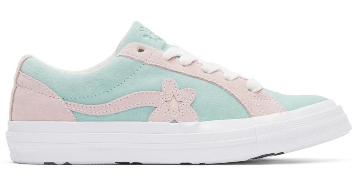 Converse Suede Blue And Pink Golf Le