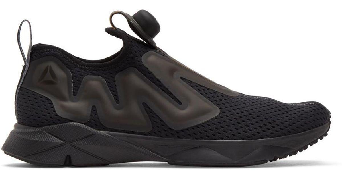 Reebok Black Pump Supreme Tape Sneakers
