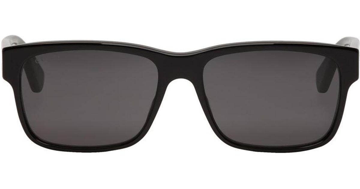 9c2b0879862 Lyst - Gucci Black Sylvie Sunglasses in Green for Men