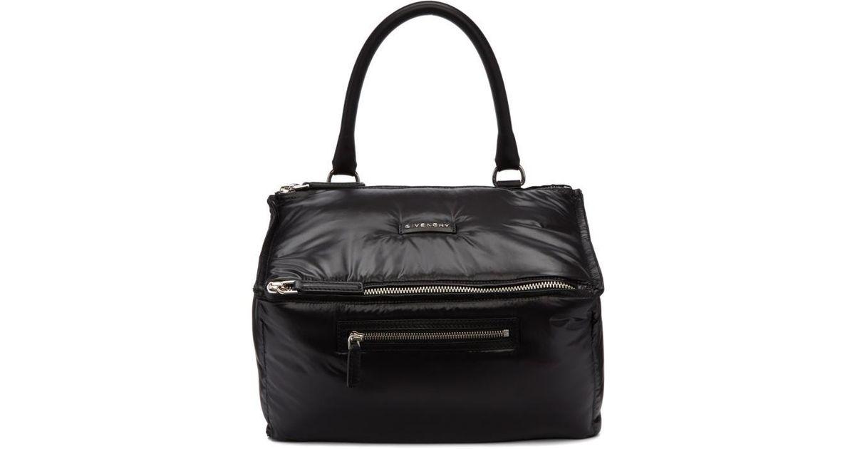efa9ddd208 Givenchy Black Nylon Medium Pandora Bag in Black - Lyst