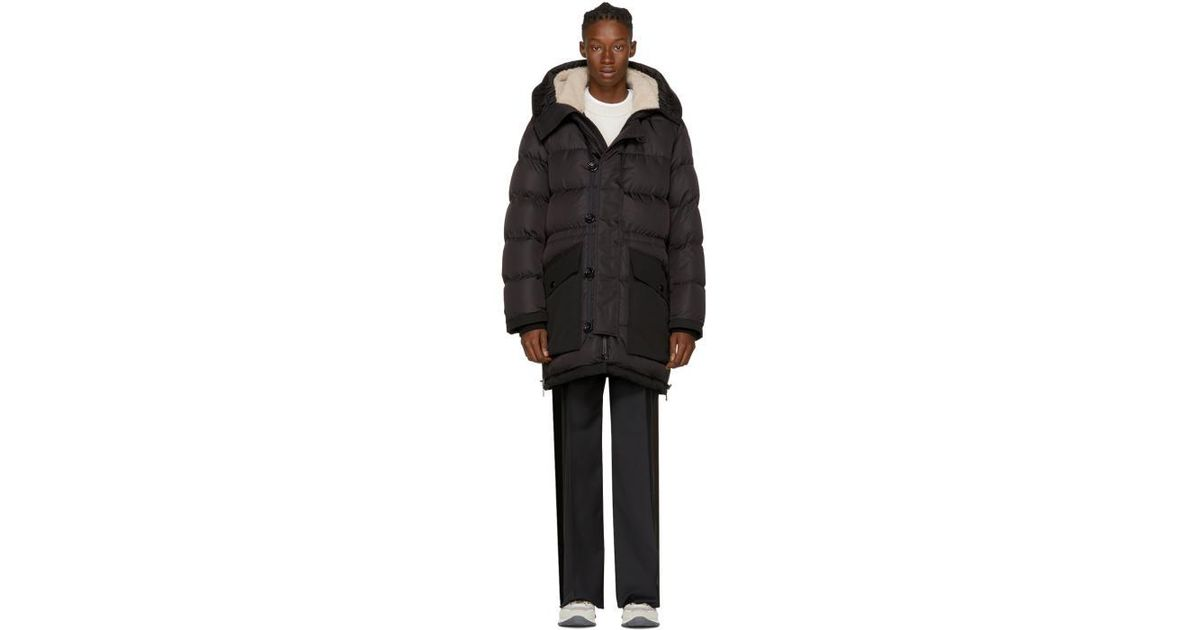Moncler Black Down Loic Parka for men