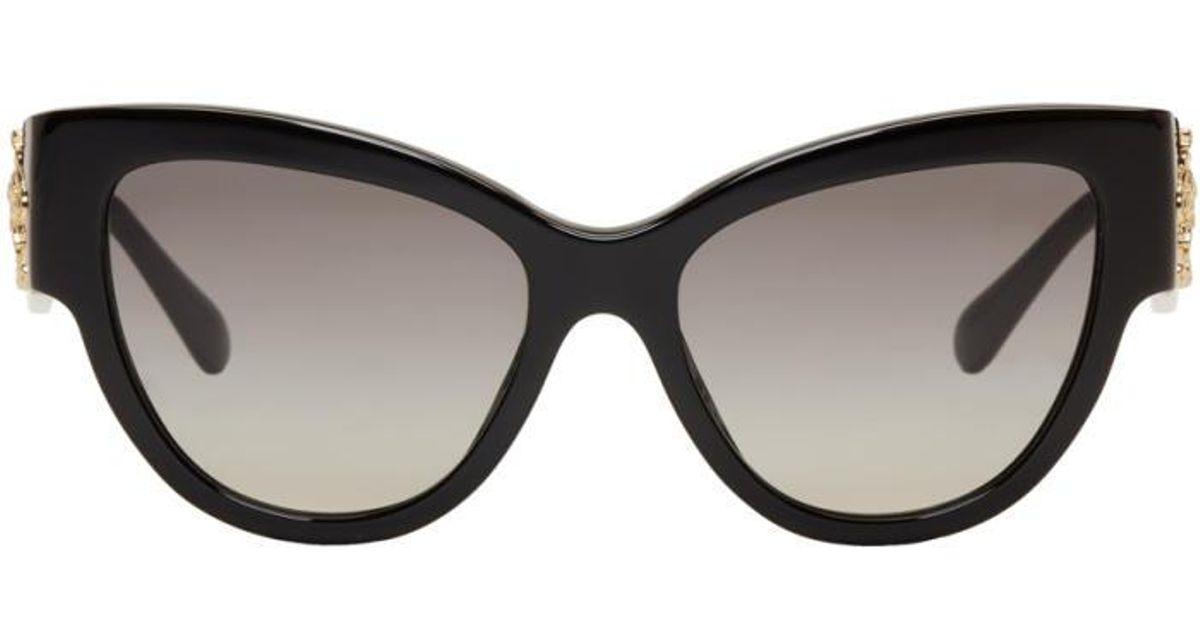 7e67a09f33 Lyst versace black rock icons baroque medusa cat eye sunglasses in black  jpg 1200x630 Black versace
