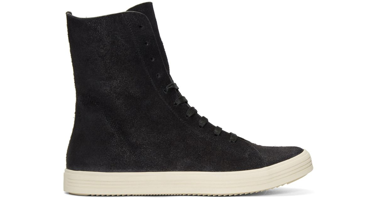Rick Owens Black Mastodon High Top Sneakers For Men Lyst