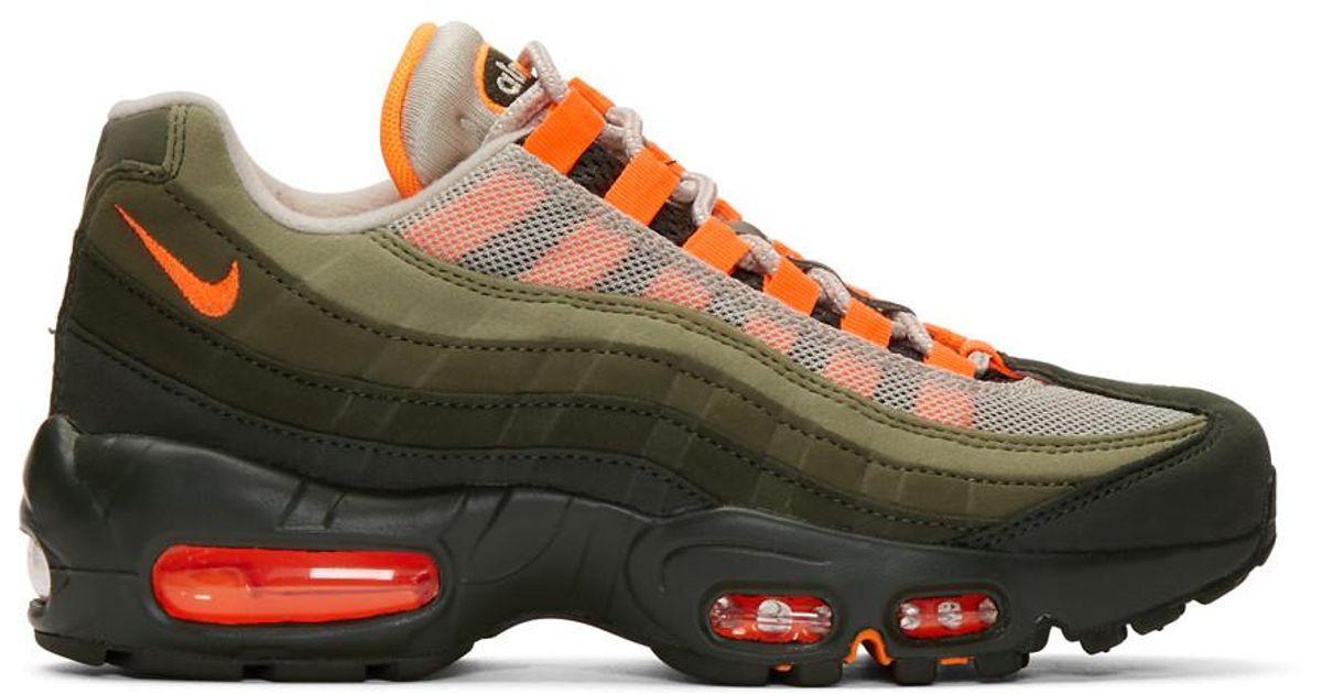 Nike Green And Orange Air Max 95 Og Sneakers