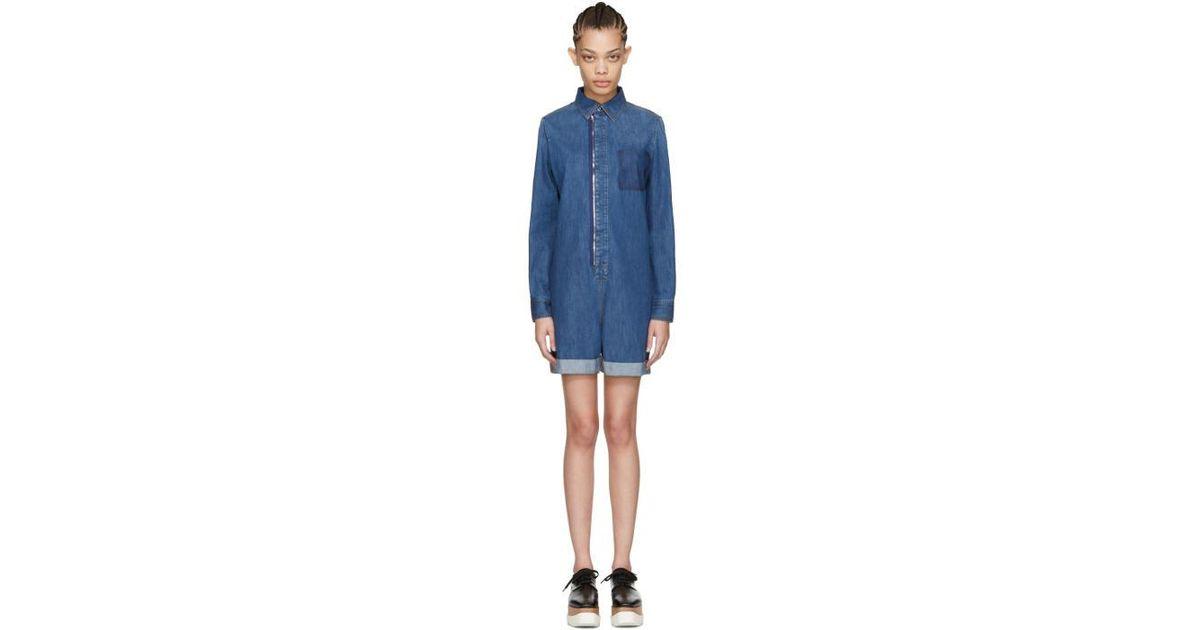 86295ffeaaf0b Lyst - Stella McCartney Blue Denim Jumpsuit in Blue