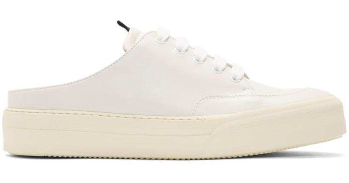 Sunnei Leather Off-white Open-back Slip