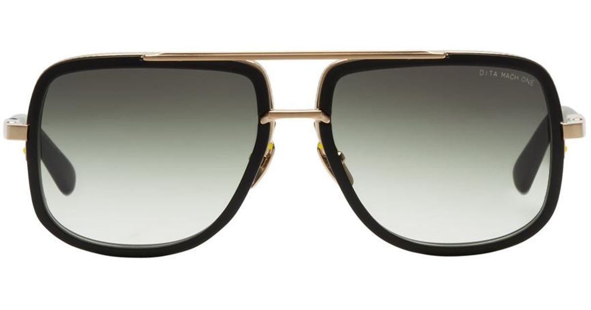 dfbbf2a90fee Lyst - DITA Black And Gold Mach One Sunglasses in Metallic for Men