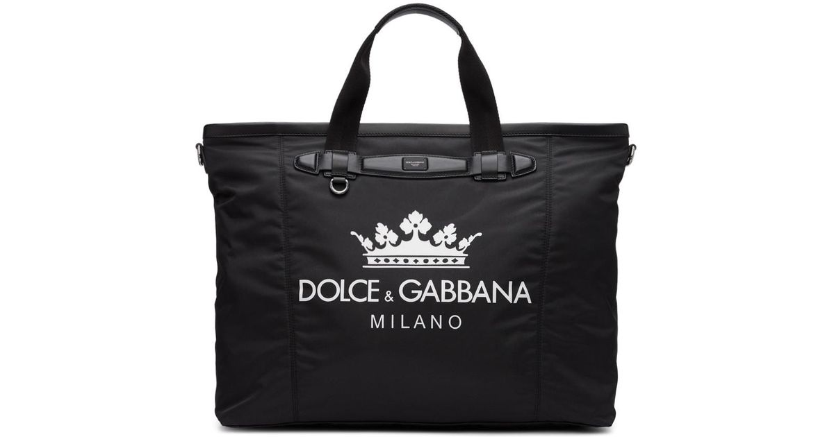 Dolce   Gabbana Black Travel Tote in Black for Men - Lyst 8105c1a3b915d