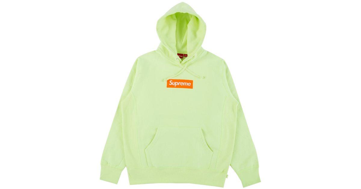 5334f050aeff Lyst - Supreme Box Logo Hooded Sweatshirt in Green for Men