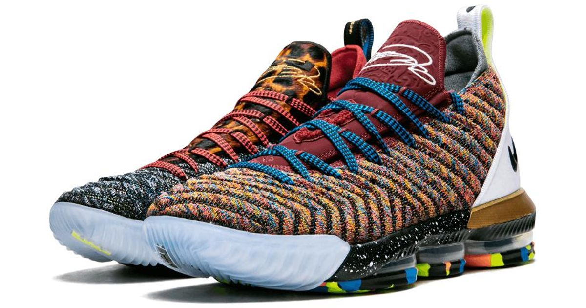 uk availability 1c9df 60456 Nike Blue Lebron 16 Lmtd 'what The - 1 Thru 5' Shoes - Size 8 for men