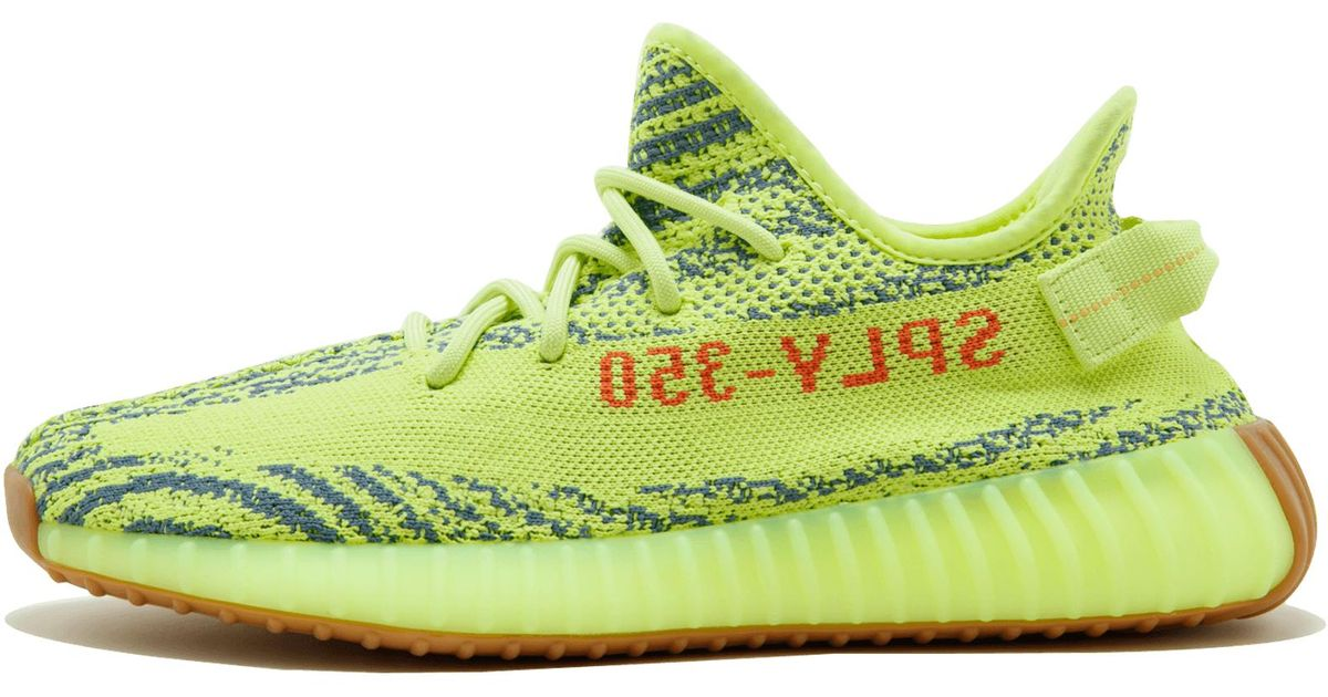 timeless design ac801 392f5 Adidas Green Yeezy Boost 350 V2 'semi Frozen' Shoes - Size 9.5 for men