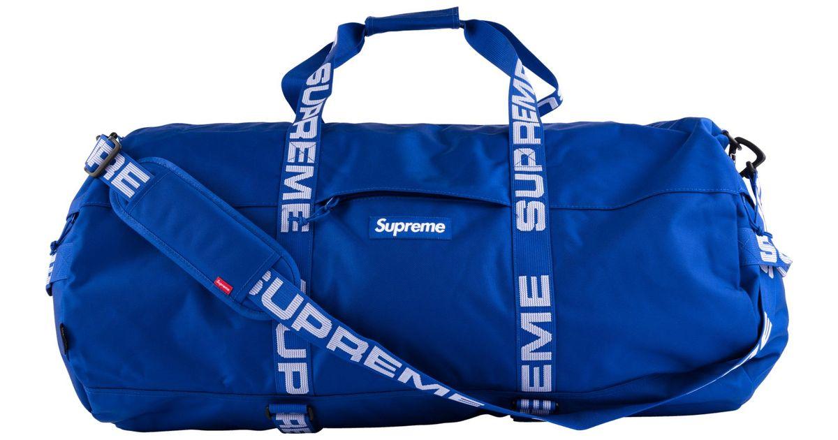 44b19af485 Supreme Large Duffle Bag in Blue for Men - Lyst