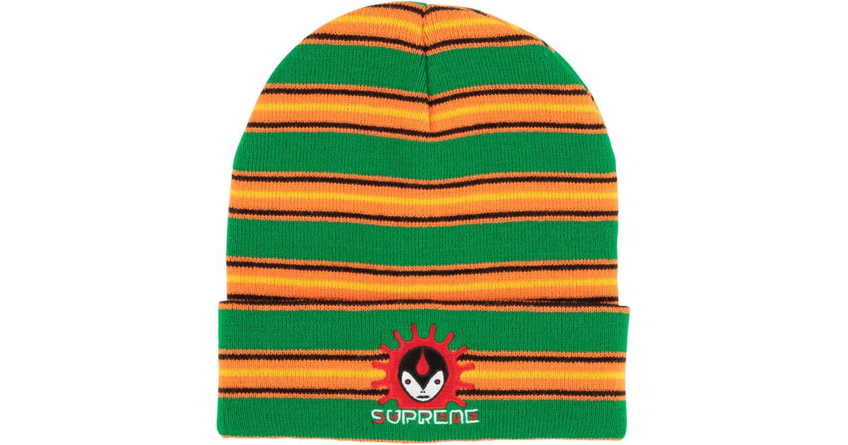 0f26ad7f7486b Lyst - Supreme Vampire Beanie in Green for Men