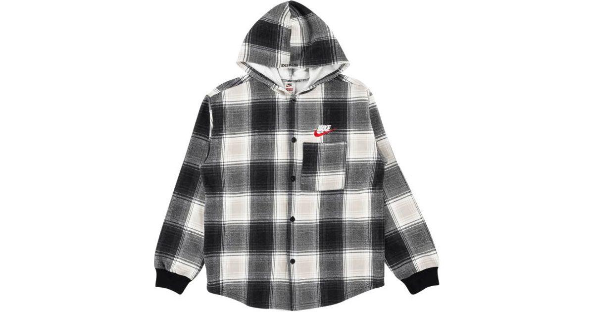 special buy hot-selling clearance buy popular Supreme Nike Plaid Hooded Sweatshirt Black for men