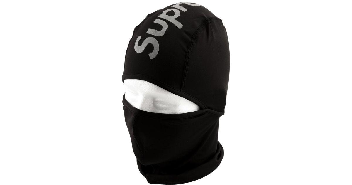 Lyst - Supreme Reflective Logo Balaclava in Black for Men e1751d64ae1