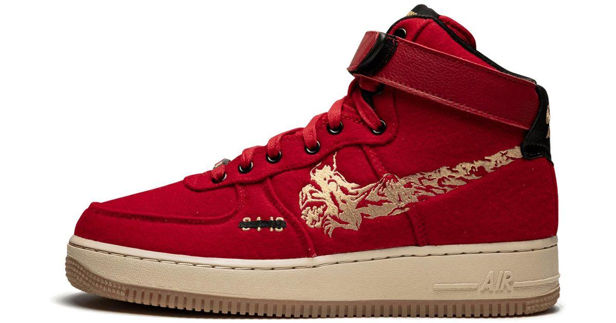 Id Red Air Nike Force 1 High Premium OPkNn8XZw0