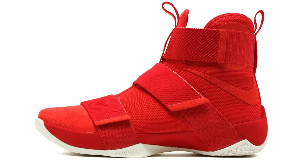 designer fashion 541fb e71bf Nike Red Lebron Soldier 10 Sfg Lux for men