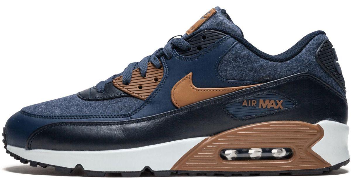 Nike Air Max 90 Premium Thunder BlueAle Brown 700155 404