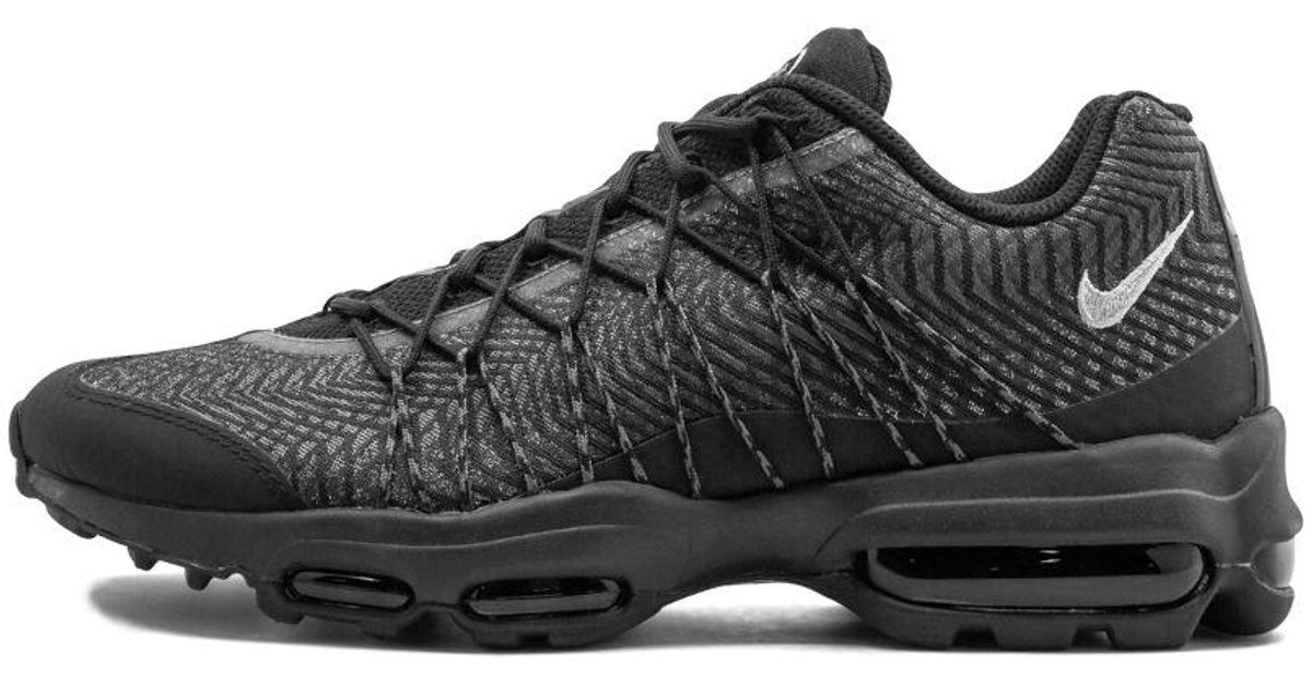Nike Black Air Max 95 Ultra Jcrd for men