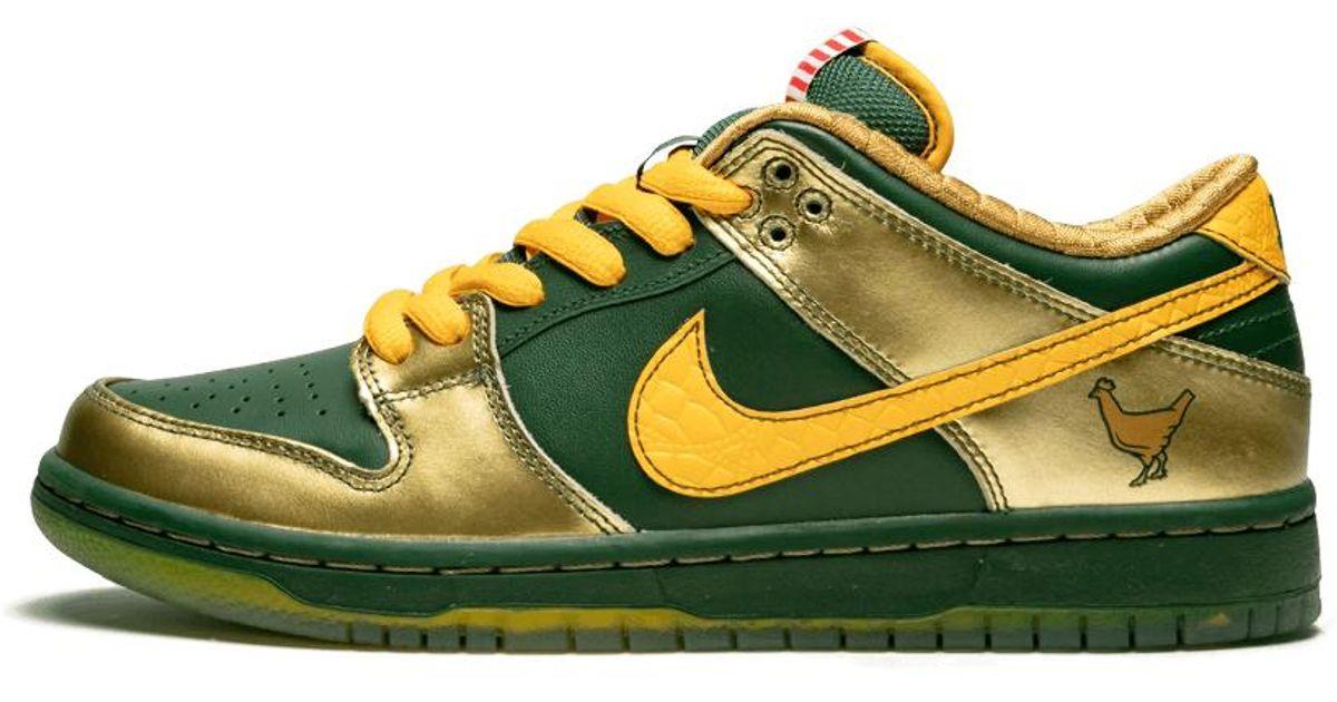 super popular f460d 791c4 Nike Yellow Sb Dunk Low Qs Db