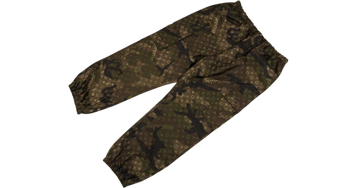 Louis Vuitton Monogram Cargo Track Pants In Green For Men Lyst