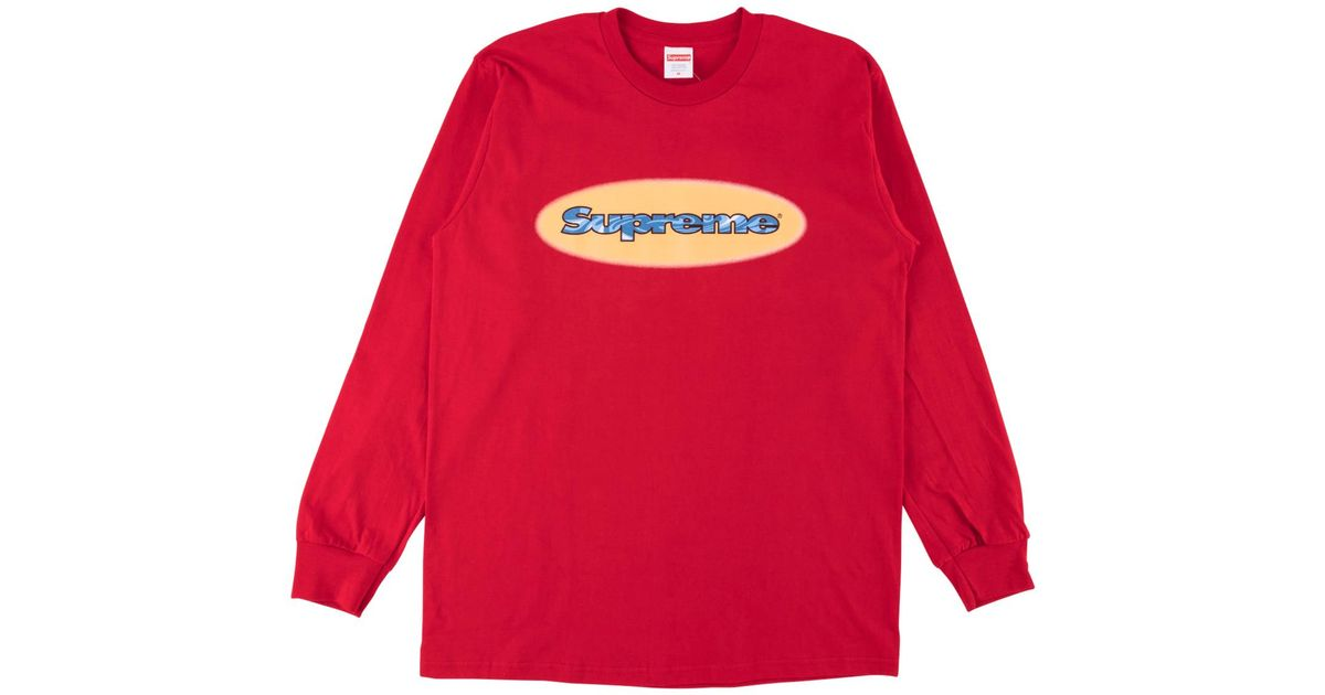 f3fd77ce6920 Lyst - Supreme Ripple L s Tee in Red