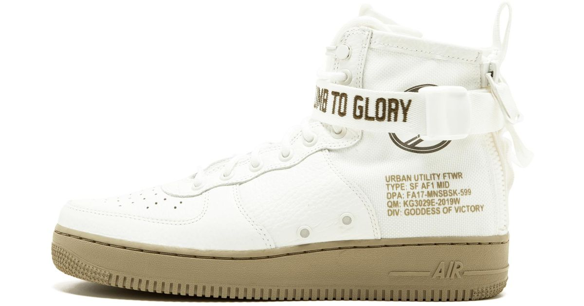 best cheap 40e58 69d6e Nike White Sf Af1 Mid Shoes - Size 13 for men