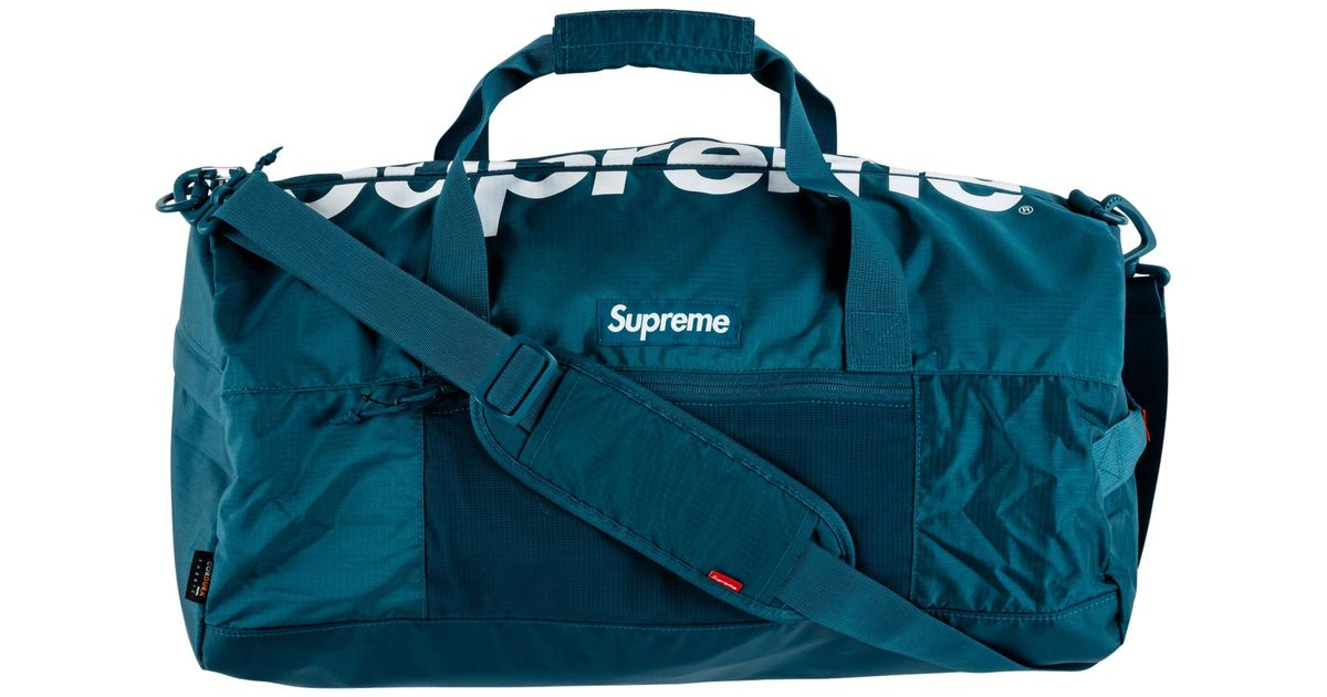 6a8186595 Supreme Duffle Bag in Blue for Men - Lyst