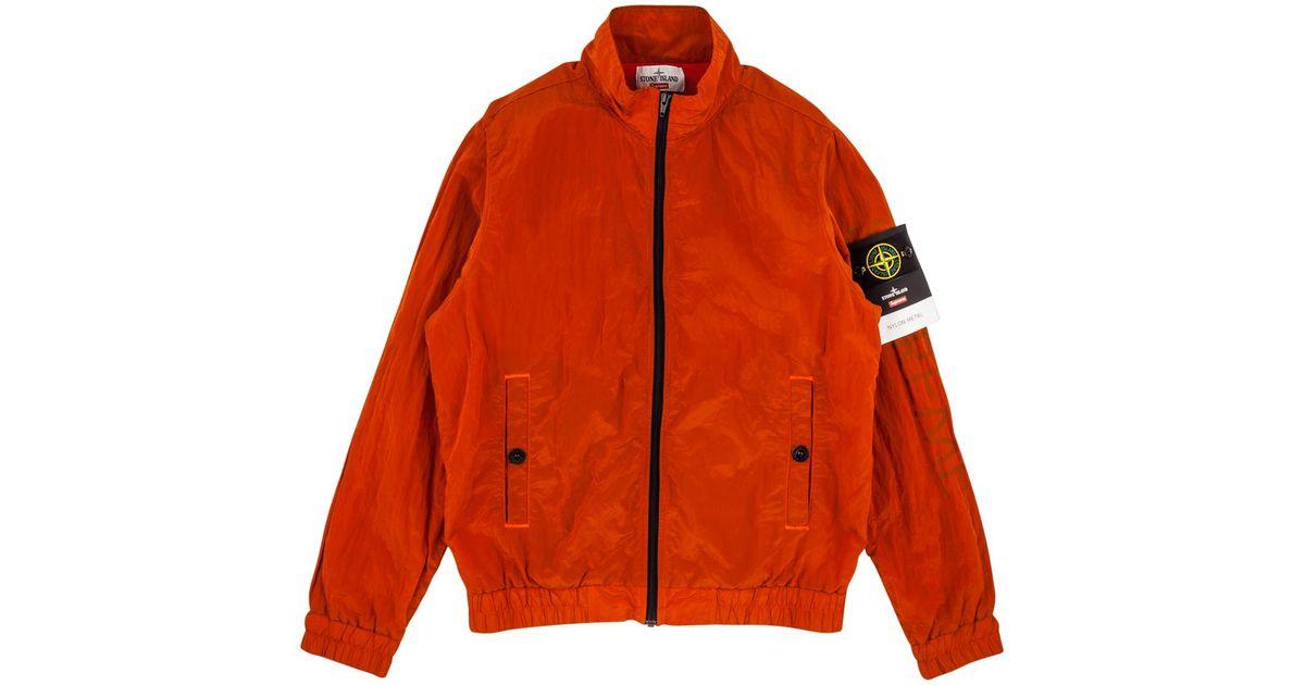 b9122f7cae3a2 Supreme Stone Island Nylon Metal in Orange for Men - Lyst