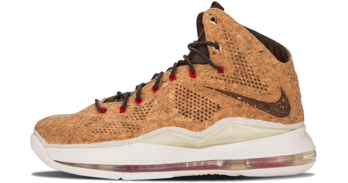 1166975b5cc2 Lyst - Nike Lebron 10 Ext Cork Qs in Brown for Men