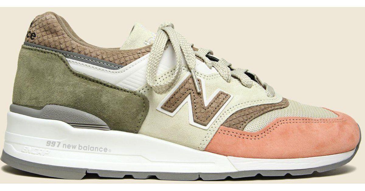 low priced ce3df 0fec2 New Balance Multicolor 997 Desert Heat - Bone for men