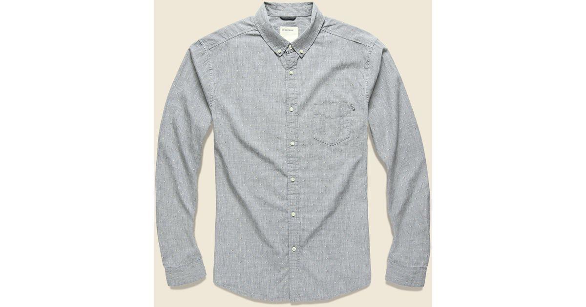 Life After Denim Mens Long Sleeve Slim Fit Tally Dobby Shirt