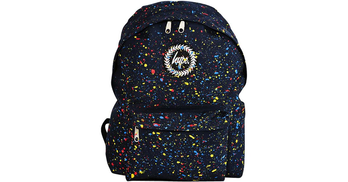 Hype Navy multi Primary Splat Backpack in Blue - Lyst 4696cae25d