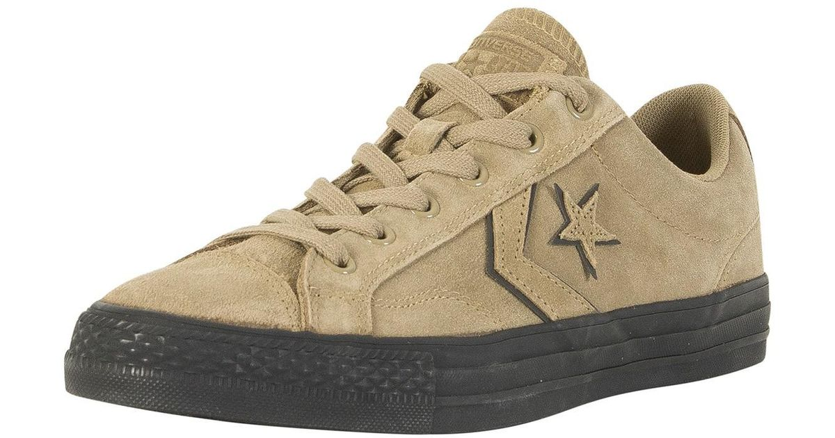 22f5f079c02c Lyst - Converse Khaki black Star Player Ox Trainers in Natural for Men