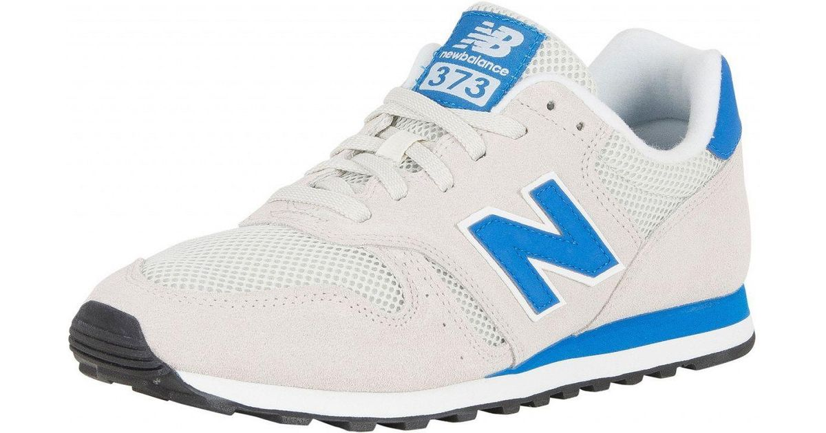 premium selection 36df4 59b7d New Balance Off White/blue 373 Suede Trainers for men