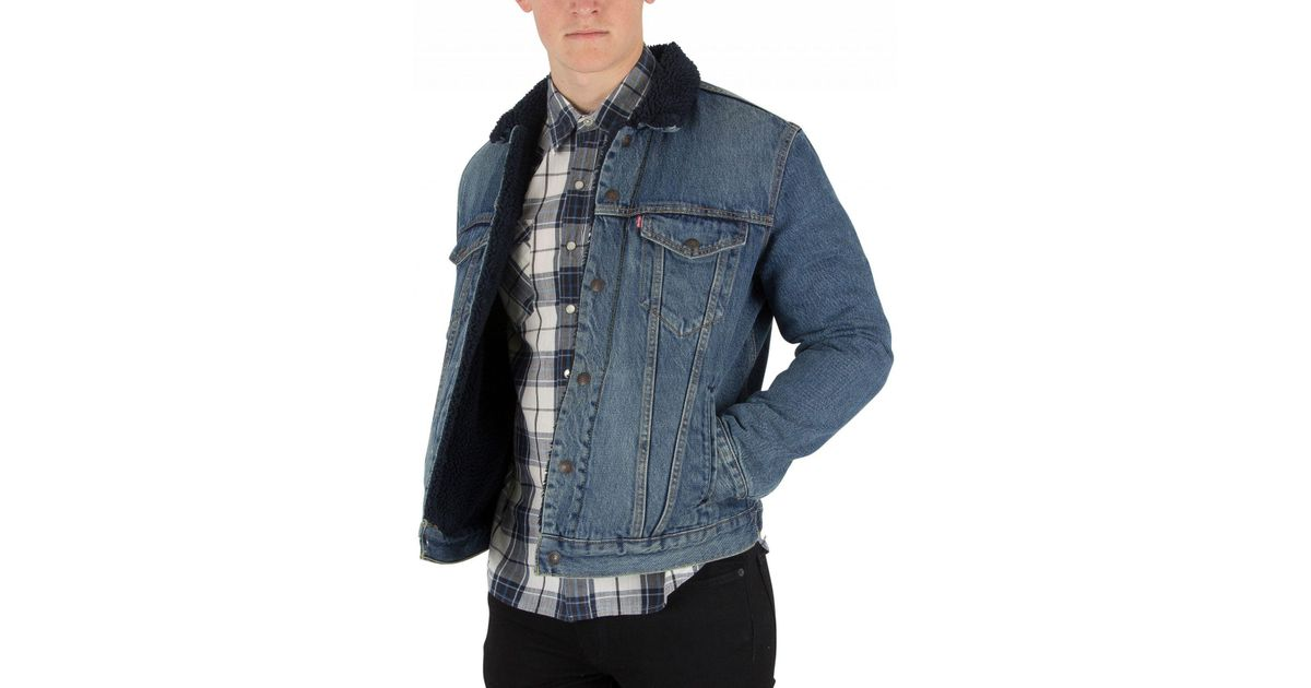 cb6338b6b7a Levi's Indigo Lamb Type 3 Sherpa Trucker Jacket in Blue for Men - Lyst