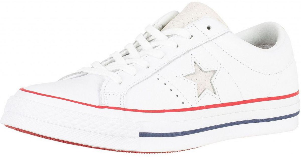 white One Star Ox Leather Trainers