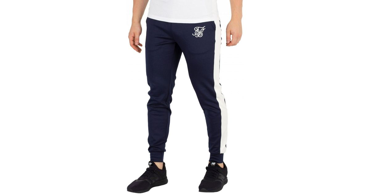 02b69b79b256 Sik Silk Navy Cuffed Joggers in Blue for Men - Lyst