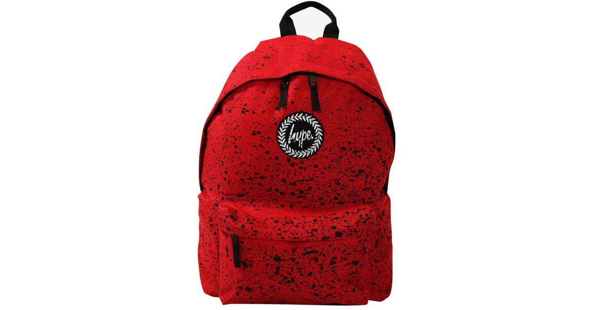 crazy price shopping store Hype Synthetic Red/black Speckle Backpack for Men - Lyst