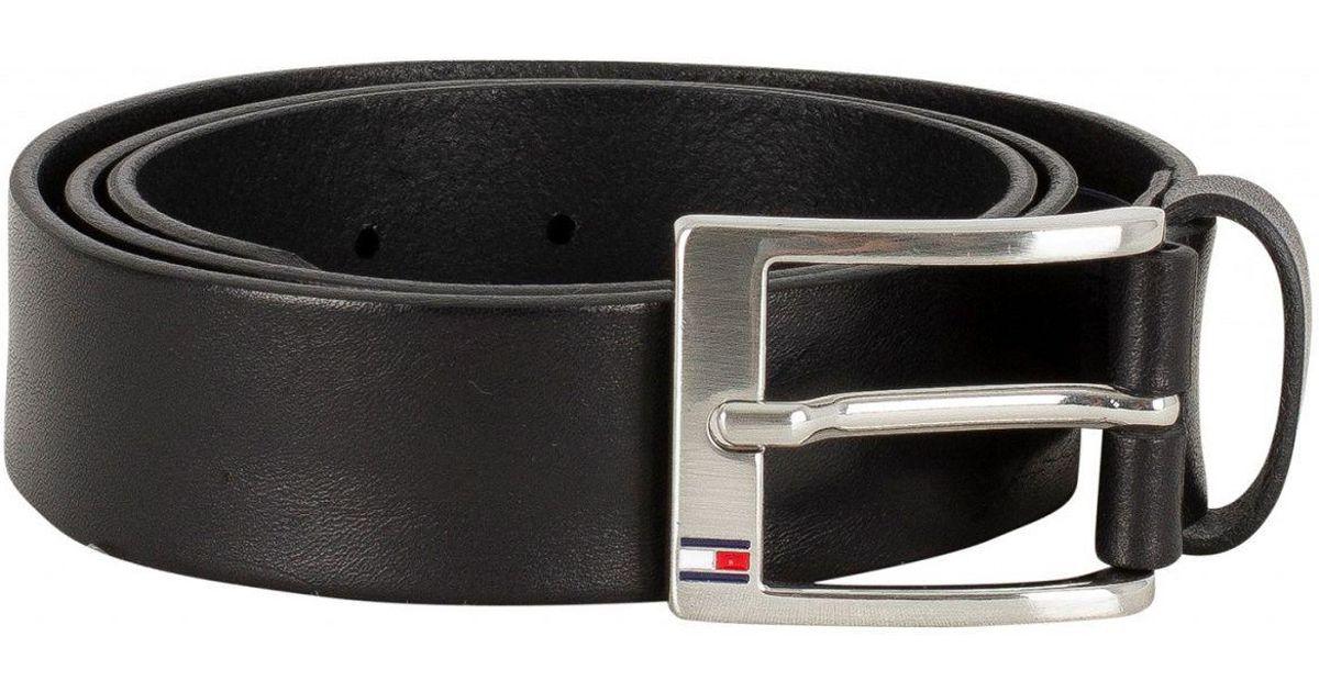 neuer Stil & Luxus offizieller Laden zuverlässige Leistung Tommy Hilfiger Black New Aly Belt in Black for Men - Lyst